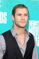LOS ANGELES - JUN 3:  Chris Hemsworth arriving at the 2012 MTV Movie Awards at Gibson Ampitheater on June 3, 2012 in Los Angeles, CA