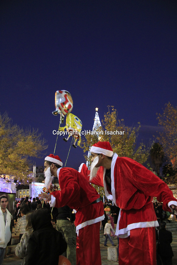 Israel, Lower Galilee, Christmas celebration in Nazareth