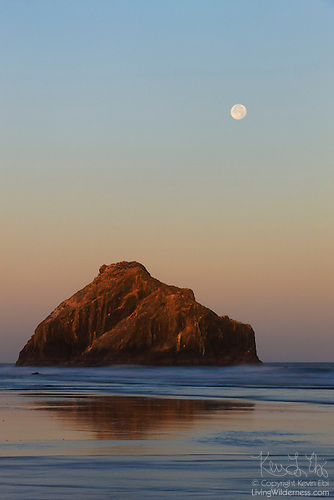Face Rock and Full Moon, Bandon, Oregon Coast