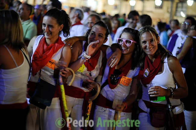 People have fun during the holidays Tordesillas, on September 13, 2011 in Tordesillas. The festival is one of the oldest in Spain with roots dating back to the fifteenth century. The bull has to be enticed across the river from the village to the plain 'Vega' before it can be killed to honour the 'Virgen de la Pena'.   © Pedro ARMESTRE.