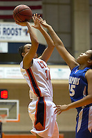 SAN ANTONIO, TX - DECEMBER 29, 2006: The University of Memphis Tigers vs. The University of Texas at San Antonio Roadrunners Women's Basketball at the UTSA Convocation Center. (Photo by Jeff Huehn)