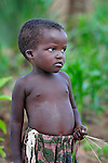 A small boy in Dofu, an area in northern Malawi which has been hit hard by drought and hunger.