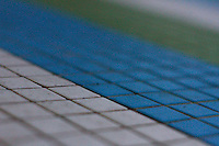 tri color tiles in blue, green and white