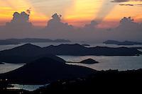 Sunrise from Bordeaux Mountain overlook<br /> St. John<br /> U.S. Virgin Islands