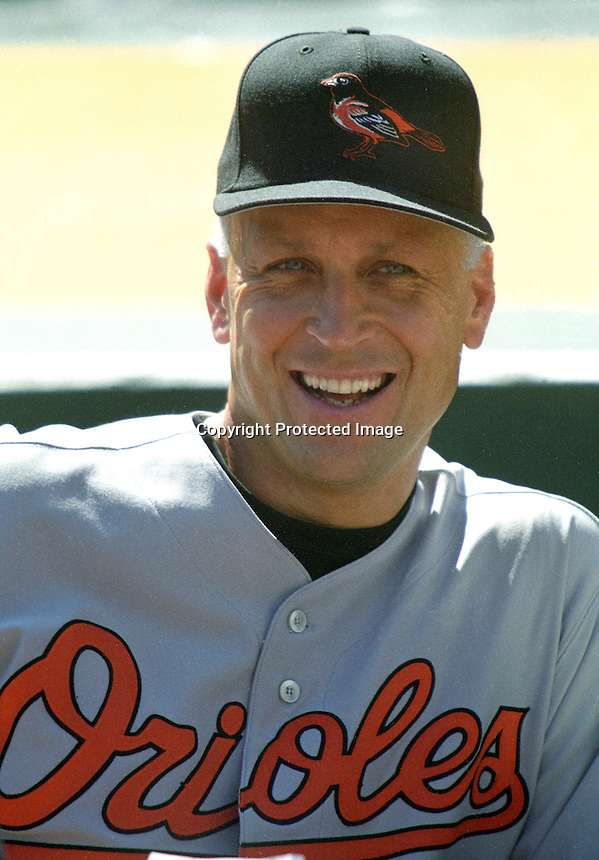 Baltimore Orioles iron man, Cal Ripkin, 2001.(photo by Ron Riesterer).