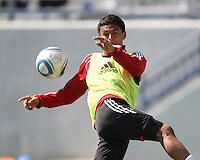 Andy Najar#14 of D.C. United during a training session in Hapgood Stadium on the campus of the Citadel,on March 11 2011, in Charleston, South Carolina