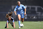 11 September 2011: North Carolina's Courtney Jones (84). The Texas A&M Aggies defeated the University of North Carolina Tar Heels 4-3 in overtime at Koskinen Stadium in Durham, North Carolina in an NCAA Division I Women's Soccer game.