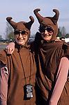 Women dressed as slugs for a fun run