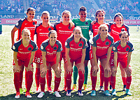 Portland, OR - Saturday April 15, 2017:  Portland Thorns FC  starting Eleven during a regular season National Women's Soccer League (NWSL) match between the Portland Thorns FC and the Orlando Pride at Providence Park.