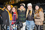 Siobhan Byrnes Chloe Bartlett Shona Guerin Tara Casey and Leah O'Shea, Dr. Crokes fans, pictured at the AIB Munster Club SFC final held in Mallow on Sunday last.