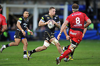 Dominic Day of Bath Rugby in possession. European Rugby Champions Cup match, between Bath Rugby and RC Toulon on January 23, 2016 at the Recreation Ground in Bath, England. Photo by: Patrick Khachfe / Onside Images