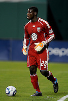 DC United goalkeeper Bill Hamid (28)   DC United defeated AC. Milan 3-2 at RFK Stadium, Wednesday May 26, 2010.