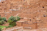 Morocco.  Ait Benhaddou Ksar, a World Heritage Site.