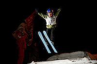 Olav Dvergsdal Prestegård, from the club Ready, as he jumps in a competition in Schrøderbakken ski jump. 17.01.2008