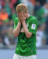 FUSSBALL   1. BUNDESLIGA   SAISON 2012/2013    32. SPIELTAG SV Werder Bremen - TSG 1899 Hoffenheim             04.05.2013 Kevin De Bruyne (SV Werder Bremen) ist nach dem 2:2 enttaeuscht