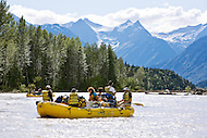 Rafting expedition down the Taku River, Northern B.C.
