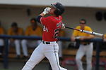 Mississippi's Miles Hamblin hits a two-run home run vs. LSU in a college baseball in Oxford, Miss. on Saturday, April 23, 2010. (AP Photo/Oxford Eagle, Bruce Newman)