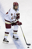 Matt Lombardi (Boston College - Milton, MA) takes part in warmups. The Michigan State Spartans defeated the Boston College Eagles 3-1 (EN) to win the national championship in the final game of the 2007 Frozen Four at the Scottrade Center in St. Louis, Missouri on Saturday, April 7, 2007.