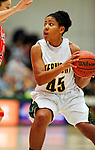13 December 2009: University of Vermont Catamounts' guard/forward Sofia Iwobi, a Senior from Fairfield, IA, in action against the Oklahoma State University Cowgirls at Patrick Gymnasium in Burlington, Vermont. The Catamounts were unable to hold onto a second half lead, falling to the Cowgirls 68-63. Mandatory Credit: Ed Wolfstein Photo