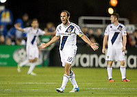 Landon Donovan of Galaxy argues with the referee about missing a call during the game against Earthquakes at Buck Shaw Stadium in Santa Clara, California on November 7th, 2012.   LA Galaxy defeated San Jose Earthquakes, 3-1.