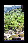 """Photo shows the """"living hanging scroll"""" -- a scroll-like view through a window of a real Japanese garden at the Adachi Museum of Art in Yasugi, Shimane Prefecture, Japan..Photographer: Robert Gilhooly"""