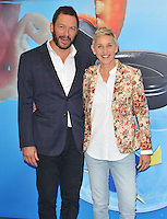 Dominic West &amp; Ellen DeGeneres at the &quot;Finding Dory&quot; UK film premiere, Odeon Leicester Square cinema, Leicester Square, London, England, UK, on Sunday 10 July 2016.<br /> CAP/CAN<br /> &copy;CAN/Capital Pictures