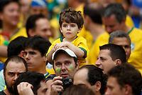 A young Brazil fan