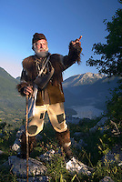 Pasetta, grandson of the last Wolfhunter of the Abruzzo, Italy