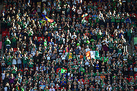 A general view of the crowd at Wembley Stadium. Rugby World Cup Pool D match between Ireland and Romania on September 27, 2015 at Wembley Stadium in London, England. Photo by: Patrick Khachfe / Onside Images