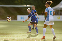 Seattle, WA - Sunday, May 21, 2017: Jessica Fishlock during a regular season National Women's Soccer League (NWSL) match between the Seattle Reign FC and the Orlando Pride at Memorial Stadium.