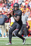 College Park, MD - October 15, 2016: Maryland Terrapins quarterback Tyrrell Pigrome (3) in action during game between Minnesota and Maryland at  Capital One Field at Maryland Stadium in College Park, MD.  (Photo by Elliott Brown/Media Images International)