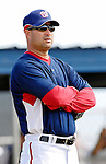25 February 2007: Washington Nationals Manager Manny Acta watches his team perform drills at their training facility in Viera, Florida. In his first year as a Major League Manager, Acta replaces Frank Robinson who managed the franchise since 2002.<br /> <br /> Mandatory Photo Credit: Ed Wolfstein Photo