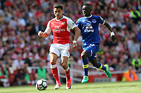 Idrissa Gueye of Everton is beaten for pace by Alexis Sanchez of Arsenal during Arsenal vs Everton, Premier League Football at the Emirates Stadium on 21st May 2017
