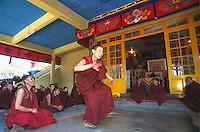 Monks debating at Namgyal monastery.
