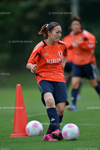 Karina Maruyama (JPN), .JULY 12, 2012 - Football / Soccer :  Women's Japan National Team Training in Akitsu, Chiba, Japan. (Photo by Jun Tsukida/AFLO SPORT)