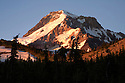 OR01683-00...OREGON - Sunrise on Mount Hood from Wy'east Basin in the Mount Hood Wilderness area.