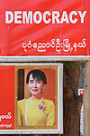 Aung San Suu Kyi  Democracy Poster, Burma