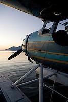 Cessna 195 on floats at the Seaplane Splash-In, Lakeport, California, Lake County, California