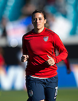 Ali Krieger.  The USWNT defeated Scotland, 4-1, during a friendly at EverBank Field in Jacksonville, Florida.