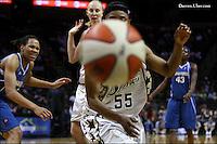 during the WNBA game between the San Antonio Silver Stars and the Washington Mystics, June 6, 2008, at the AT&T Center, San Antonio, Texas. San Antonio won 63 - 52. (Darren Abate/PressPhotoIntl.com)