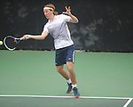 Ole Miss' Adrian Forberg Skogeng vs. Memphis in NCAA tennis in Oxford, Miss. on Wednesday, February 27, 2013.