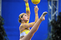 Tjasa Seme of Slovenia performs with ball at 2010 Pesaro World Cup on August 28, 2010 at Pesaro, Italy.  Photo by Tom Theobald.
