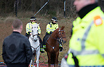 St Johnstone v Celtic.....26.12.13   SPFL<br /> Mounted Police Scotland officers on duty at McDiarmid Park<br /> Picture by Graeme Hart.<br /> Copyright Perthshire Picture Agency<br /> Tel: 01738 623350  Mobile: 07990 594431