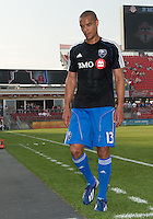 July 3, 2013: Montreal Impact defender Matteo Ferrari #13 leaves the pitch after the warm-up during an MLS game between Toronto FC and Montreal Impact at BMO Field in Toronto, Ontario Canada.<br /> The game ended in a 3-3 draw.