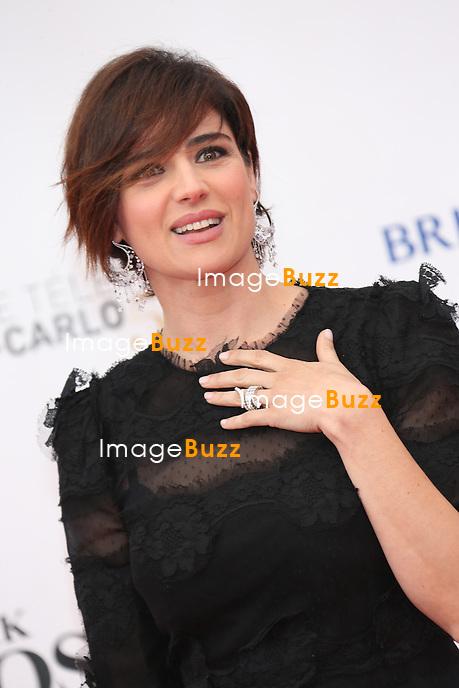 CPE/June 9, 2013-Luisa Ranieri attends 53rd Monte-Carlo TV Festival Red Carpet Opening.