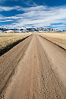 Lonely road in the Bighorn Basin