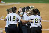 NWA Democrat-Gazette/ANTHONY REYES @NWATONYR<br /> Pottsville players celebrate their victory Friday, May 19, 2017 over Nashville in the 4A State Softball Championship at Bogle Park in Fayetteville. Pottsville won 11-3.