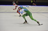 SCHAATSEN: HEERENVEEN: 16-01-2016 IJsstadion Thialf, Trainingswedstrijd Topsport, Floor van den Brandt, ©foto Martin de Jong