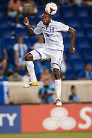 Honduras defender Johnny Palacios (4). Honduras defeated Haiti 2-0 during a CONCACAF Gold Cup group B match at Red Bull Arena in Harrison, NJ, on July 8, 2013.