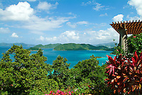 View of the north shore of St John<br /> showing Whistling Cay<br /> U.S. Virgin Islands